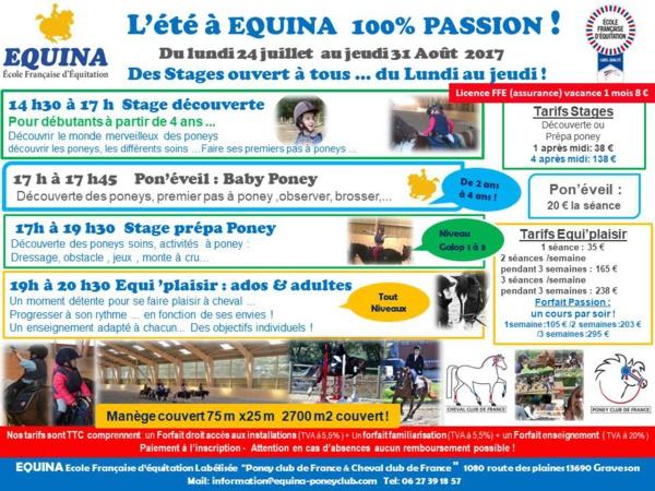 Equina les vacances continue jusqu'au 31 aout !!!