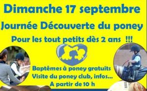 Dimanche 17 septembre Journée du poney !!! pour les tout petits dès 2 ans !!!