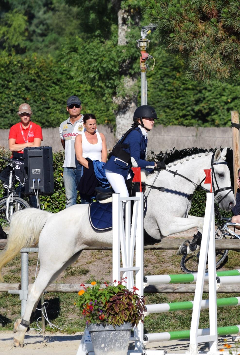 Louise C. & Perle des Gazagnes Championnats de France poney CSO 2017 Lamotte Beuvron