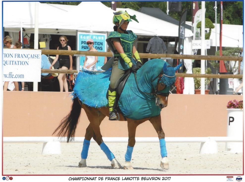 Inès M.D. Championnats de France poney Dressage RLM Lamotte Beuvron 2017
