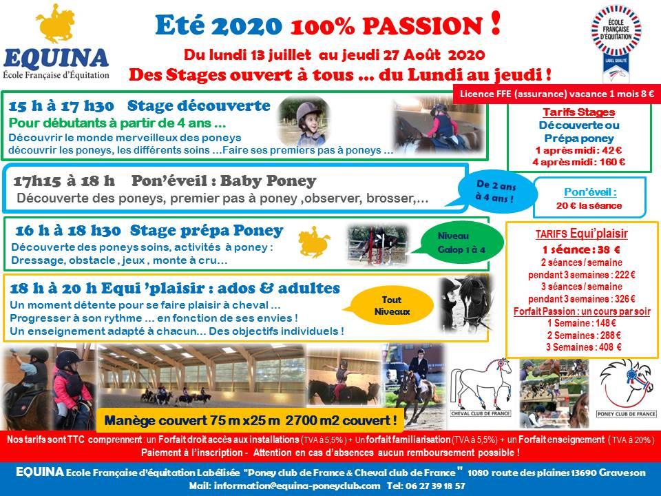 ETE 2020 un été 100% Passion!!!