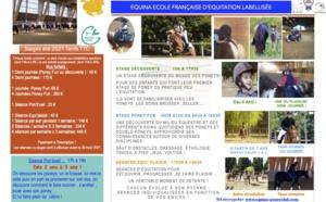 Un été 100% Equitation ! 100% Plaisir ! 100% Qualité ! 100% Nature ! 100% Equina !!! Dès 2 ans !!! :)